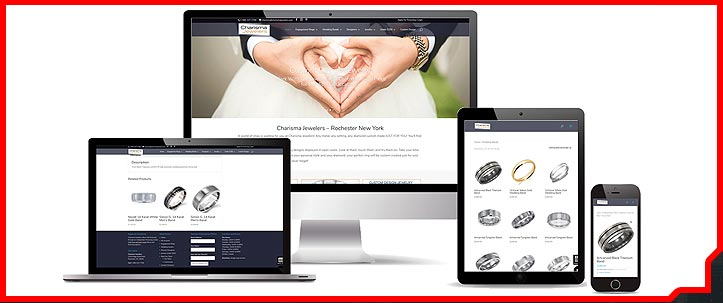 Charisma Jewelers commerce web site